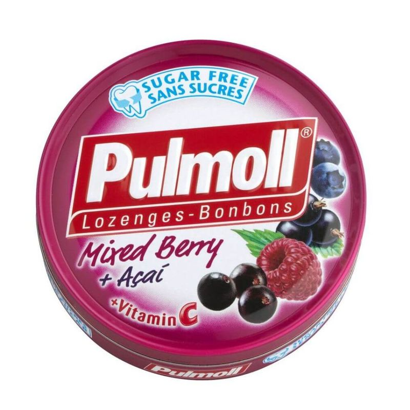 Pulmoll Lozenges Mixed Berry + Acai + Vitamin C, 45g