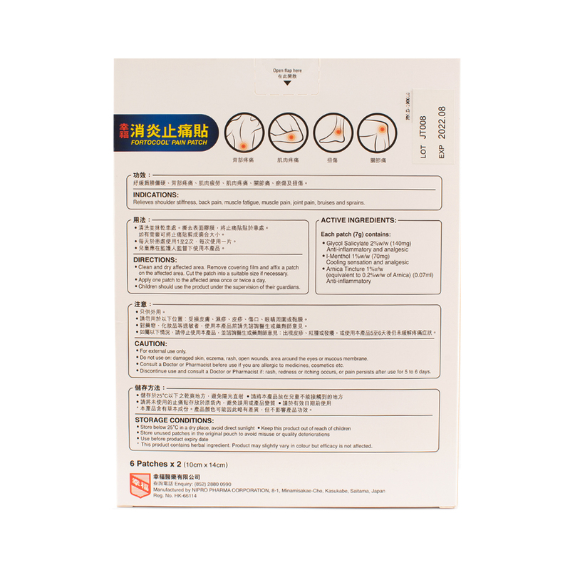 Fortune Fortocool Pain Patch 12pcs