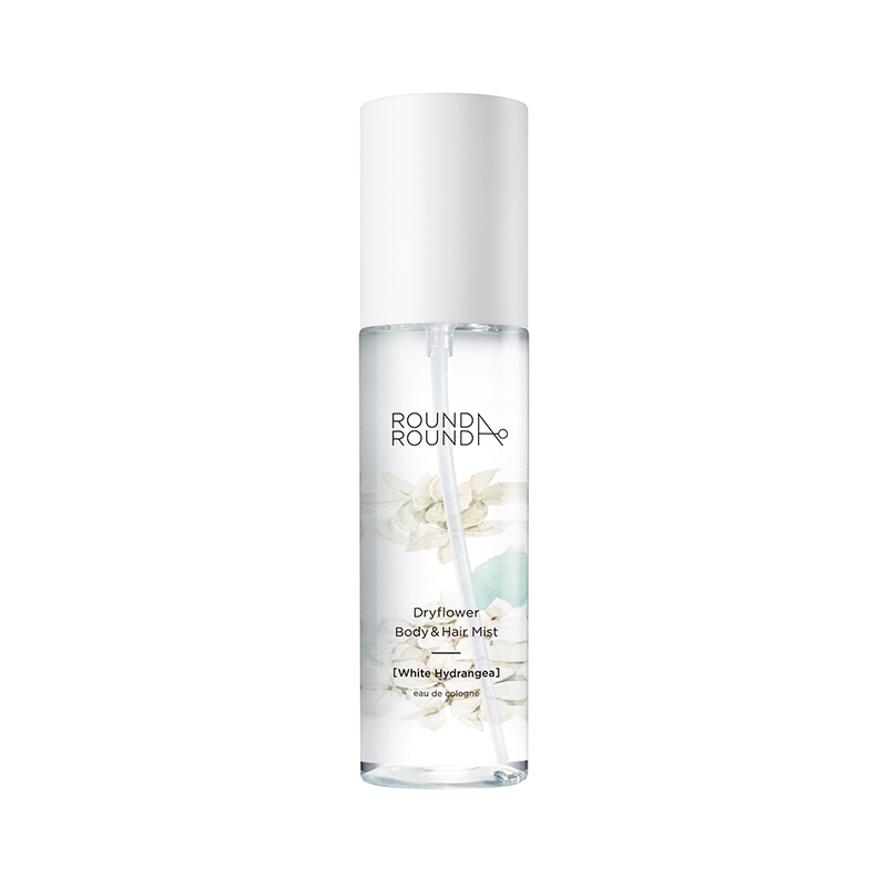 Round A'Round Dryflower Body and Hair Mist (White Hydrangea) 100ml