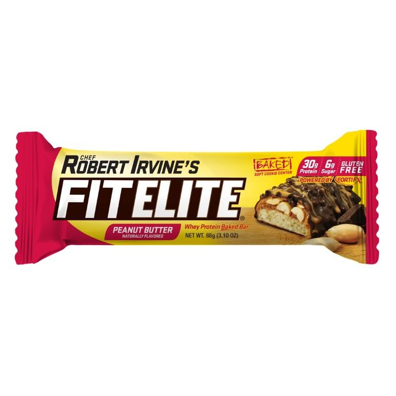 Fitelite Peanut Butter Whey Protein Baked Bar 88g
