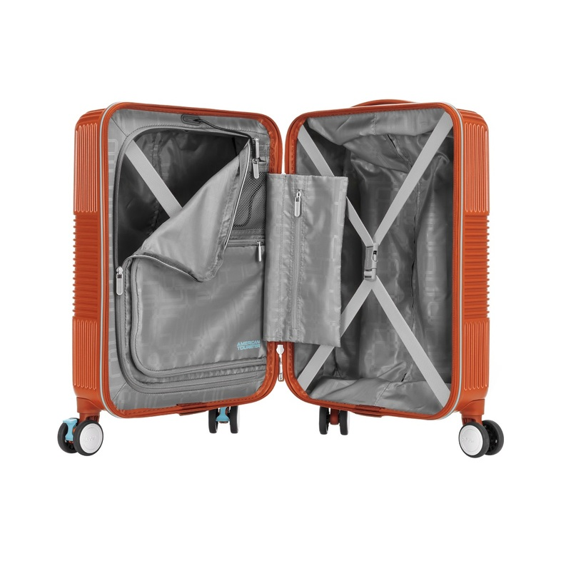 "American Tourister VELTON Spinner 20"" (Orange) 24x36x55cm"