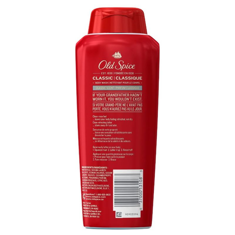 Old Spice Classic Scent Body Wash, 532ml