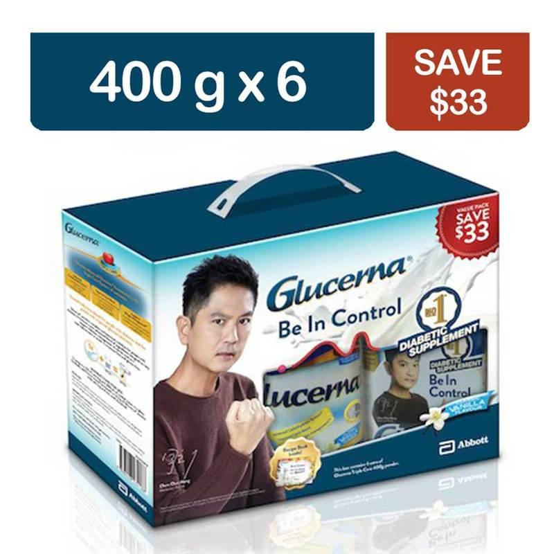 Glucerna Triplecare Powder Vanilla, 6x400g