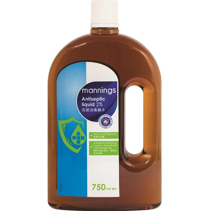 Mannings Antiseptic Liquid 2% 750mL