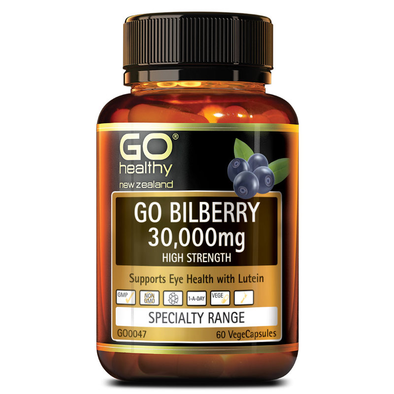 GO Healthy Bilberry 30000mg, 60 capsules
