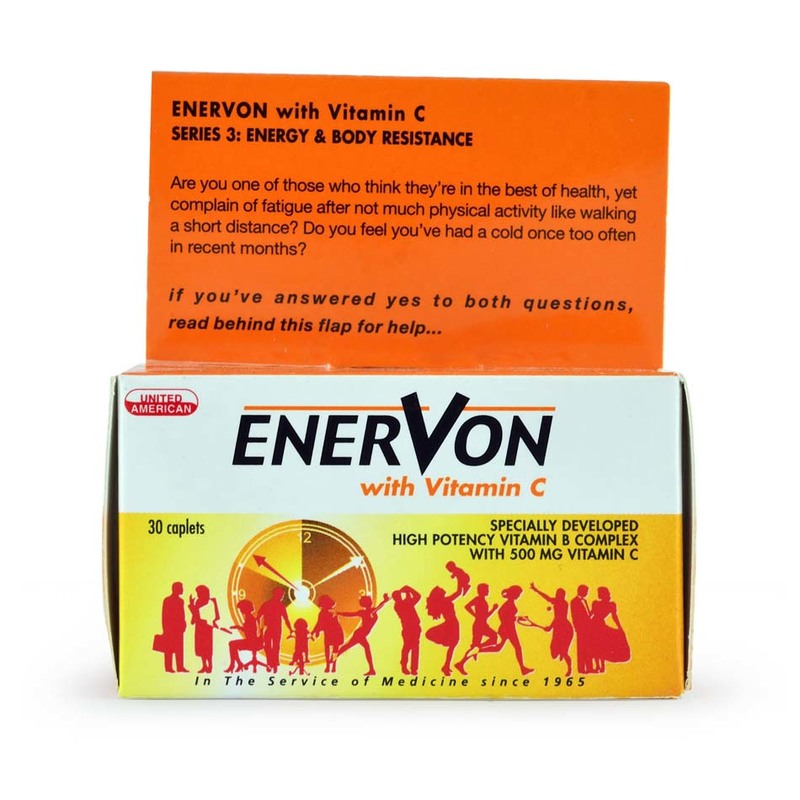 Enervon Vitamin B Complex with Vitamin C, 30pcs