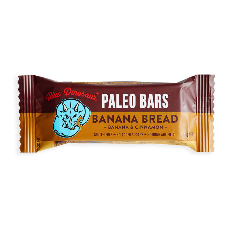 Blue Dinosaur Banana Bread Paleo Bar, 45g