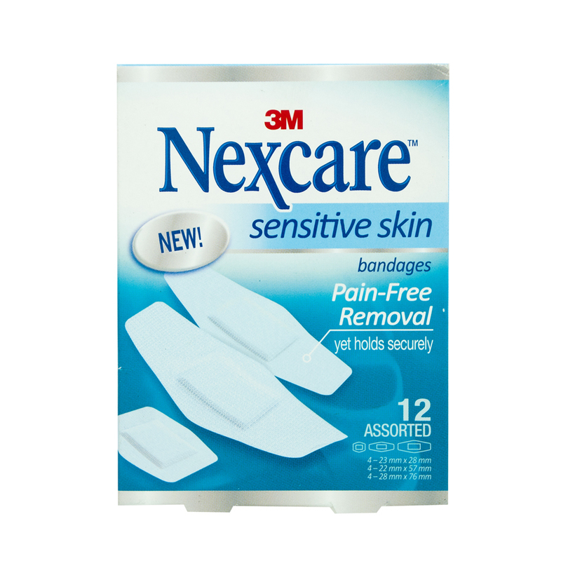Nexcare Sensitive Skin Bandages, 12pcs