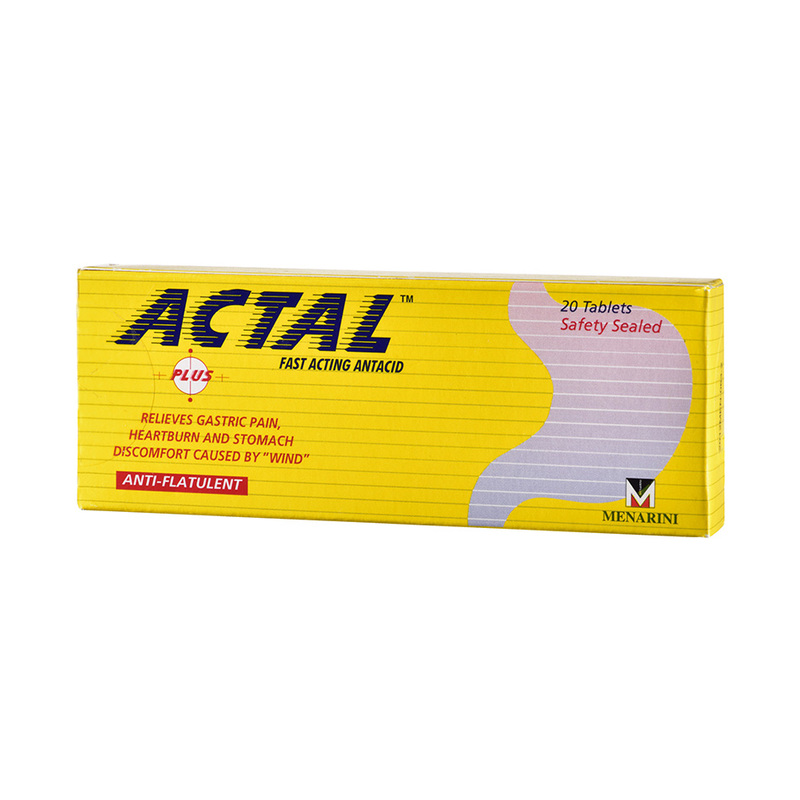 Actal Plus Fast Acting Antacid, 20 tablets
