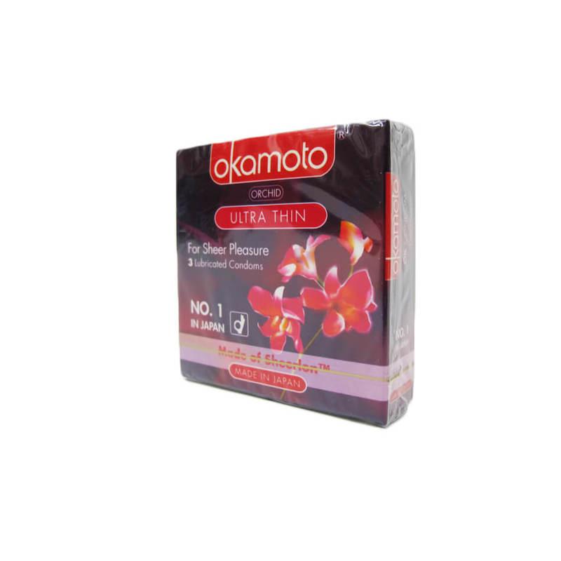 Okamoto Orchid Condoms, 3pcs