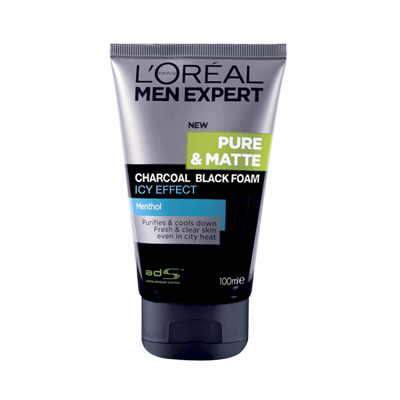 LOREAL PARIS MEN EXPERT men expert pure matte charcoal black icy foam 100ml