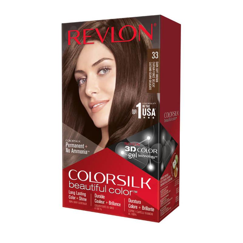 Revlon ColorSilk Hair Colour 33 Dark Soft Brown