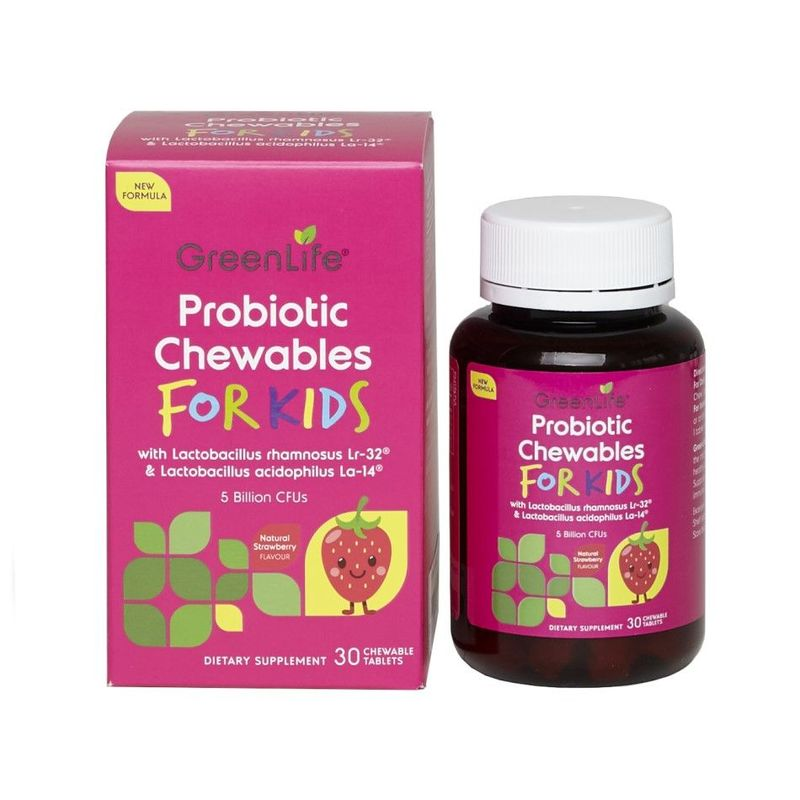 GreenLife Probiotic Chewables For Kids 30 chewable tablets