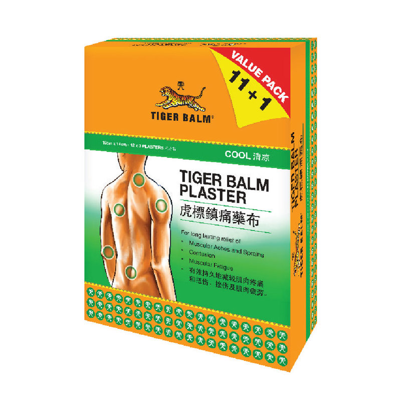 Tiger Balm Cool Plaster Large, 12x3s