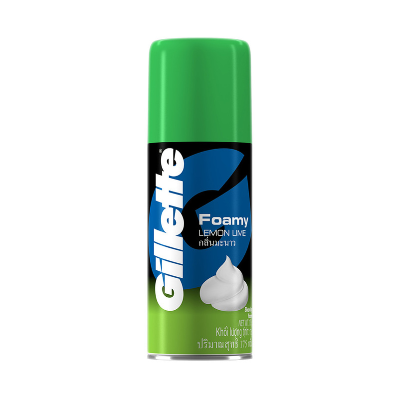 Gillette Foamy Shave Prep Foam Lemon Lime, 175g