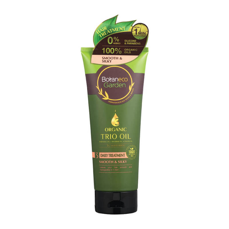 Botaneco Garden Organic Trio Oil Smooth and Silky Hair Treatment, 225ml
