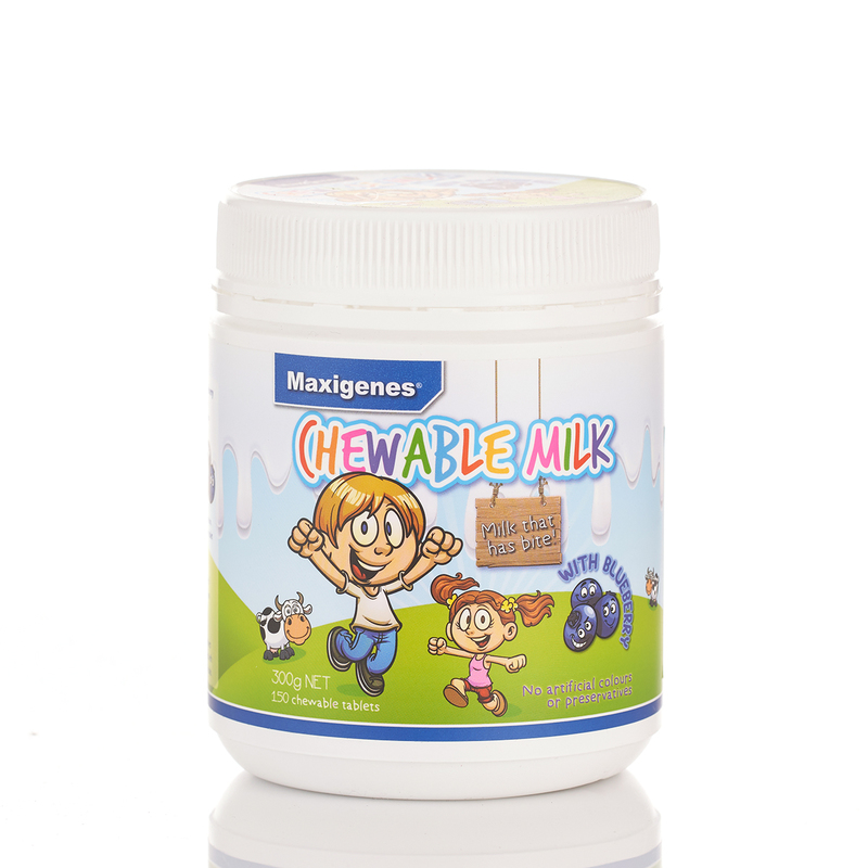 Maxigenes Chewable Milk (Blueberry) 150pcs