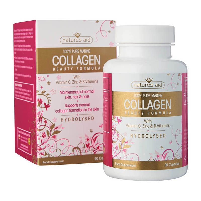Natures Aid Collagen Beauty Formula 100% Pure Marine, 90 capsules