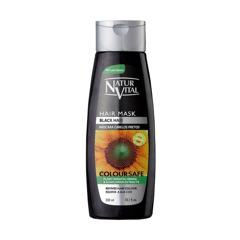 Natur Vital Colour Hair Mask Black, 300ml