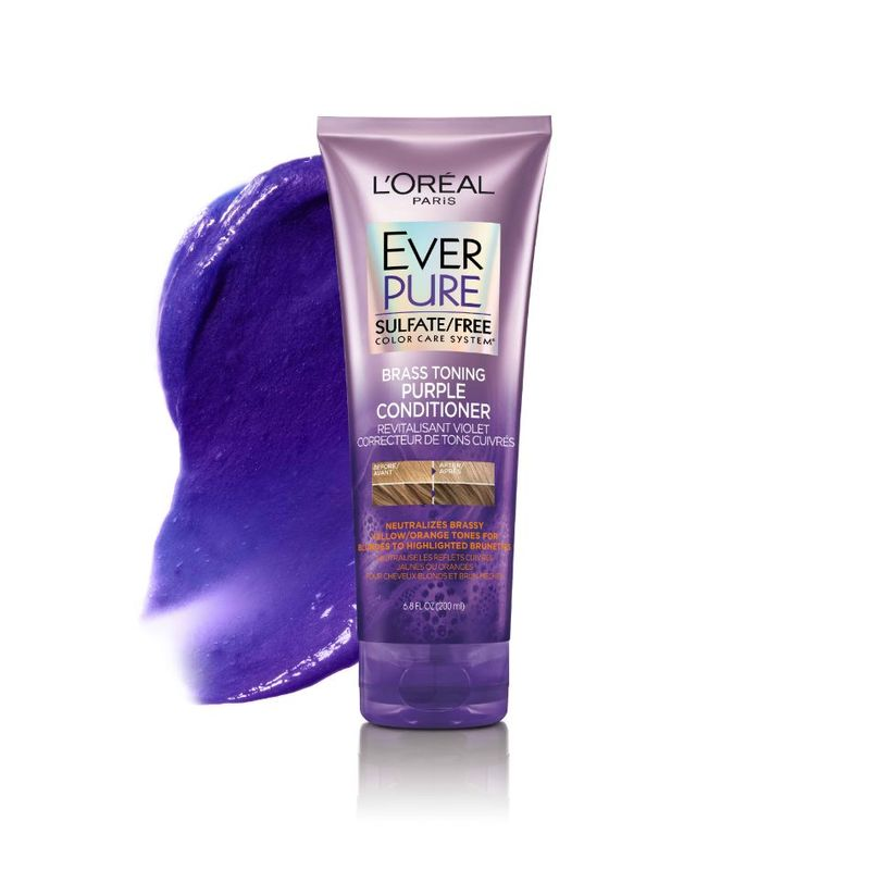 L'Oreal Paris EverPure Brass Toning Purple Conditioner 200ml