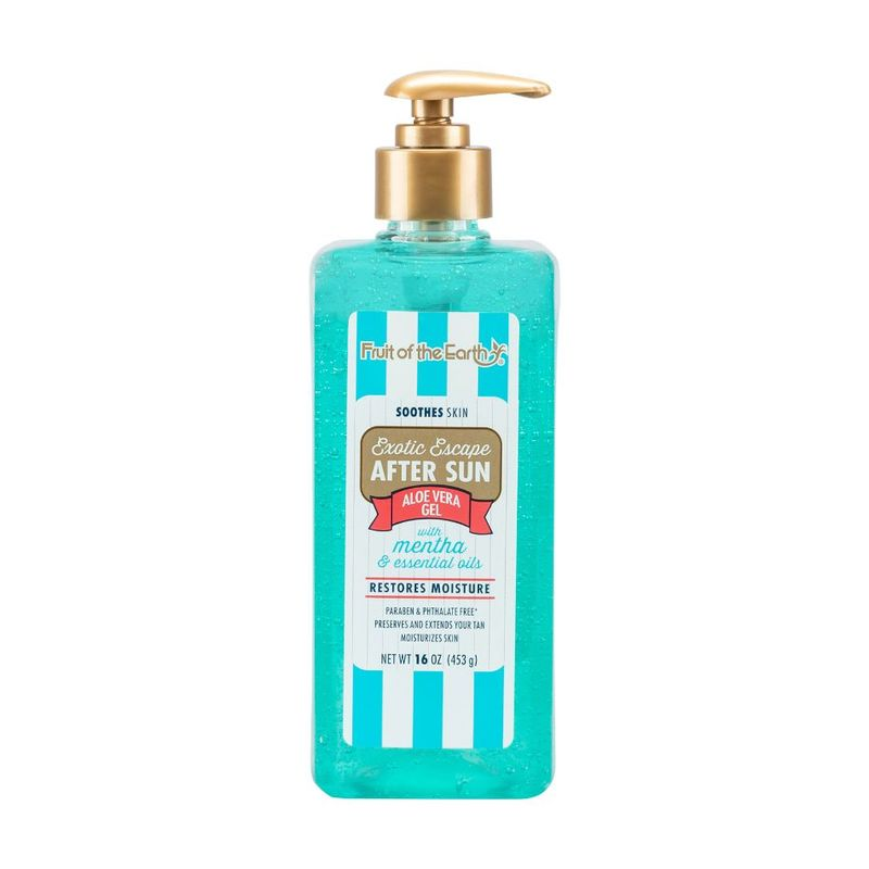 Fruit of the Earth Exotic Escape After Sun Aloe Vera Gel Mentha, 453g