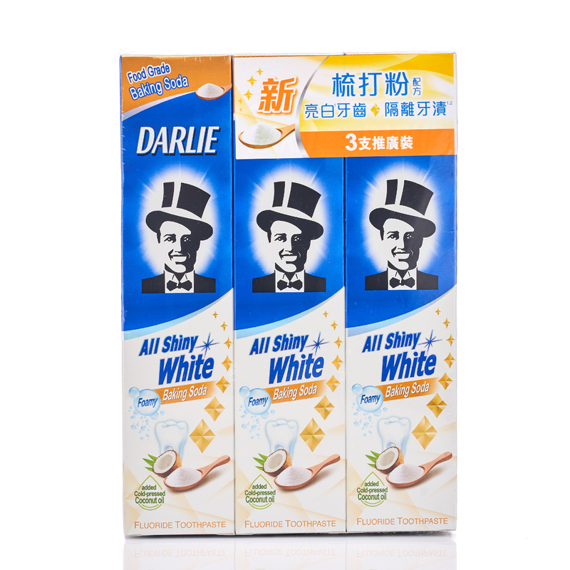 Darlie All Shine White Toothpaste (Baking Soda) 140gx3pcs