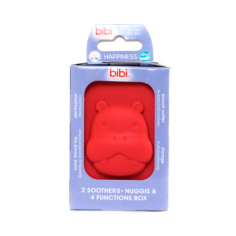 Bibi Happiness Mum/Dad Dental Silicone with Ring (6-16Months) 2pcs + Box