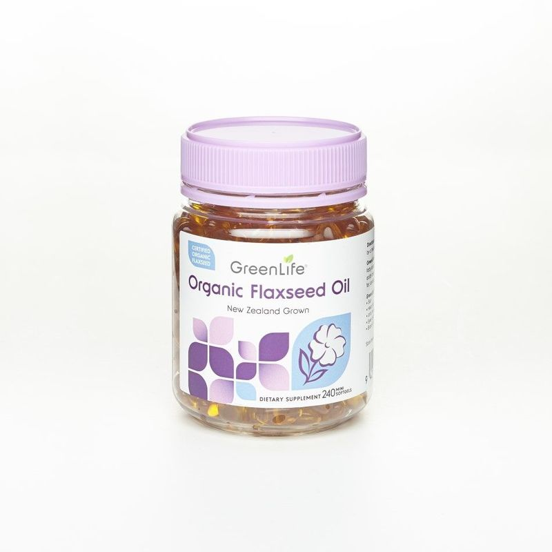 GreenLife Organic Flaxseed Oil, 240 softgels