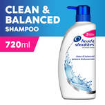 Head & Shoulders Clean & Balanced Anti-Dandruff Shampoo,720ml