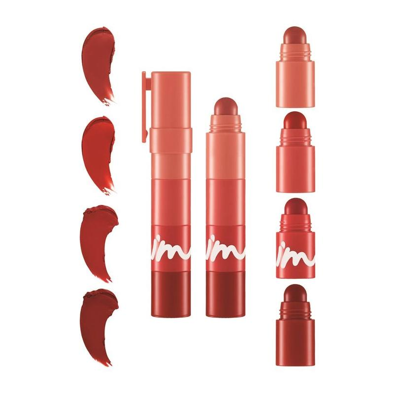 I'm Meme Multi Lip Crayon Matte 001 Red On My Lips, 3.2g