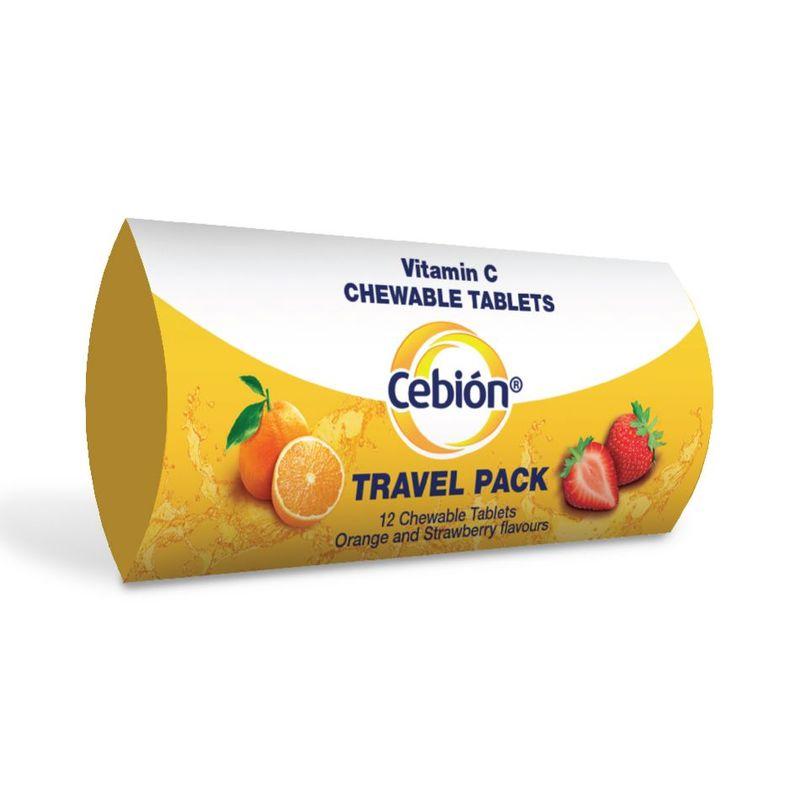 Cebion Vitamin C Chewables Travel Pack, 12pcs