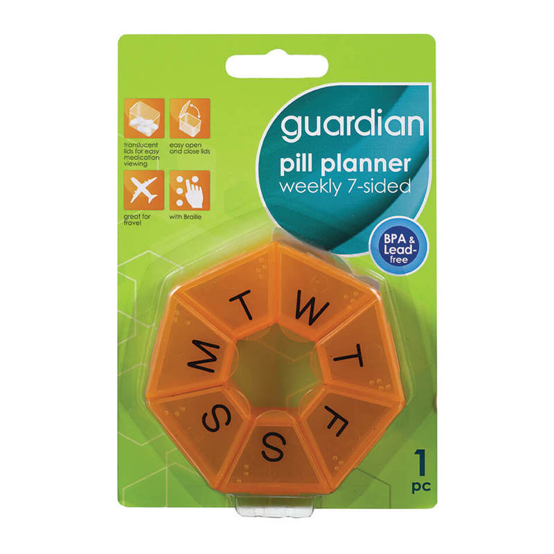 Guardian Pill Planner Weekly 7-Sided