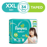 Pampers Baby Dry Diapers Tapes XXL, 34pcs