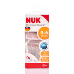 Nuk PCH Glass Bottle with Silicon Teat (0-6Months) 120mL