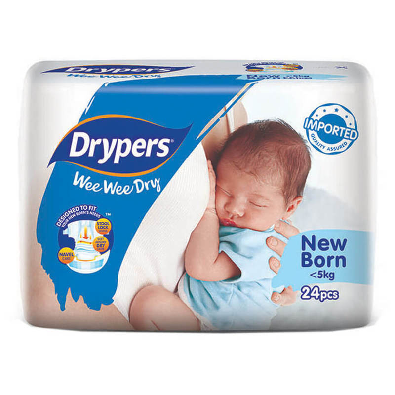 Drypers Wee Wee Dry New Born, 24pcs
