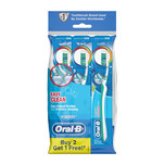 ORAL B complete easy clean medium manual toothbrush 3 count polybag
