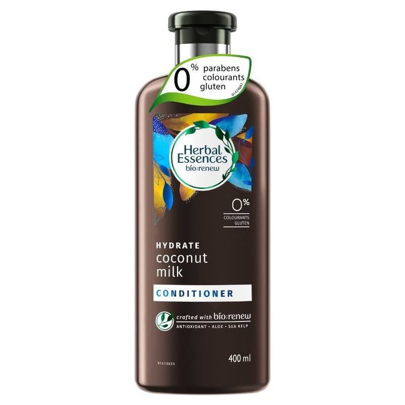 Herbal Essences HYDRATE Coconut Milk Conditioner, 400ml