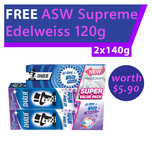 Darlie All Shiny White Multi-Care Value Pack plus FREE Supreme Edelweiss 120g Toothpaste