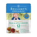 Bellamys Pear & Apple Snacks 20g