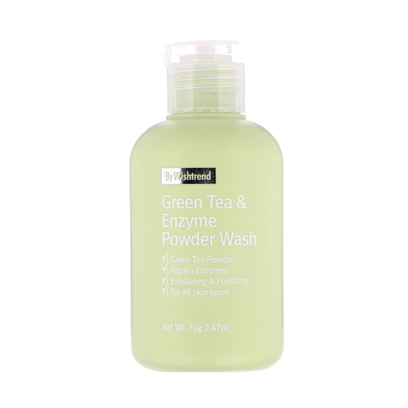 By Wishtrend Green Tea & Enzyme Powder Wash, 70g
