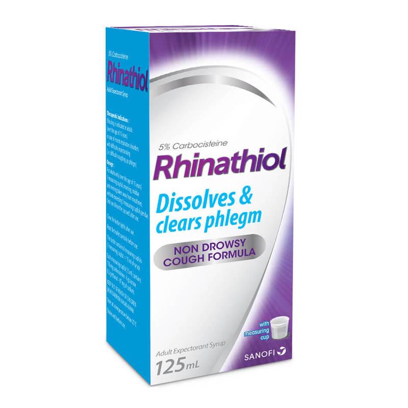 Rhinathiol Adult Cough  Syrup 5% 125ml