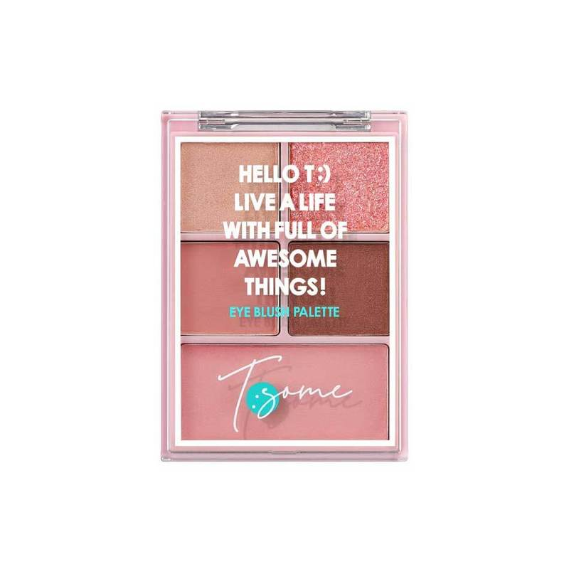 Tsome Eye Blush Palette 01 Pink Jouvence 12.3g