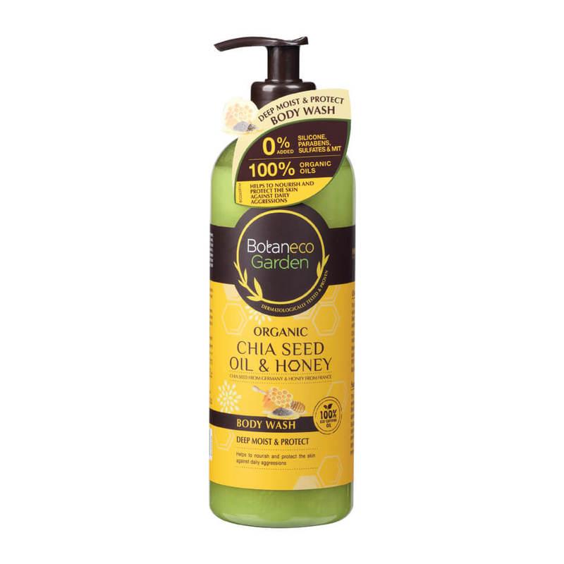 Botaneco Garden Organic Chia Seed and Honey Body Wash, 500ml