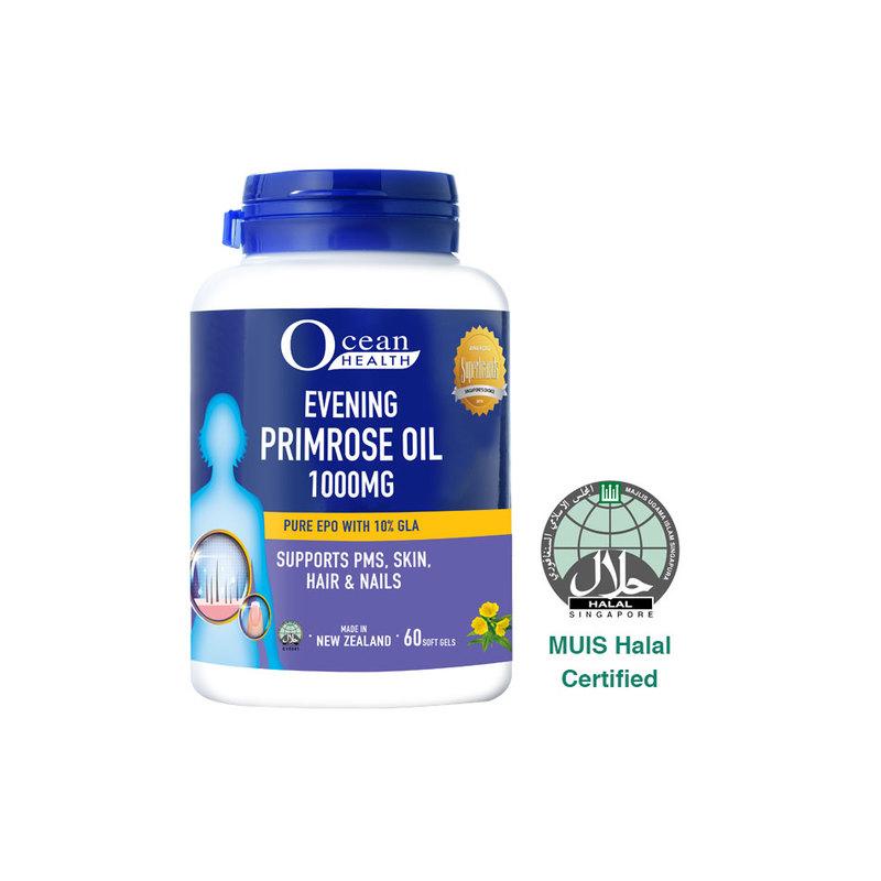 Ocean Health Ocean Health Evening Primrose Oil 1000mg, 60 softgels
