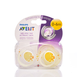 Philips Avent 0-6M Night Time Soother x2pcs