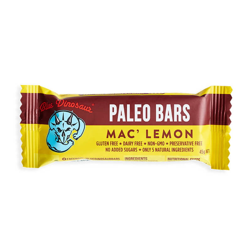 Blue Dinosaur Mac Lemon Paleo Bar, 45g