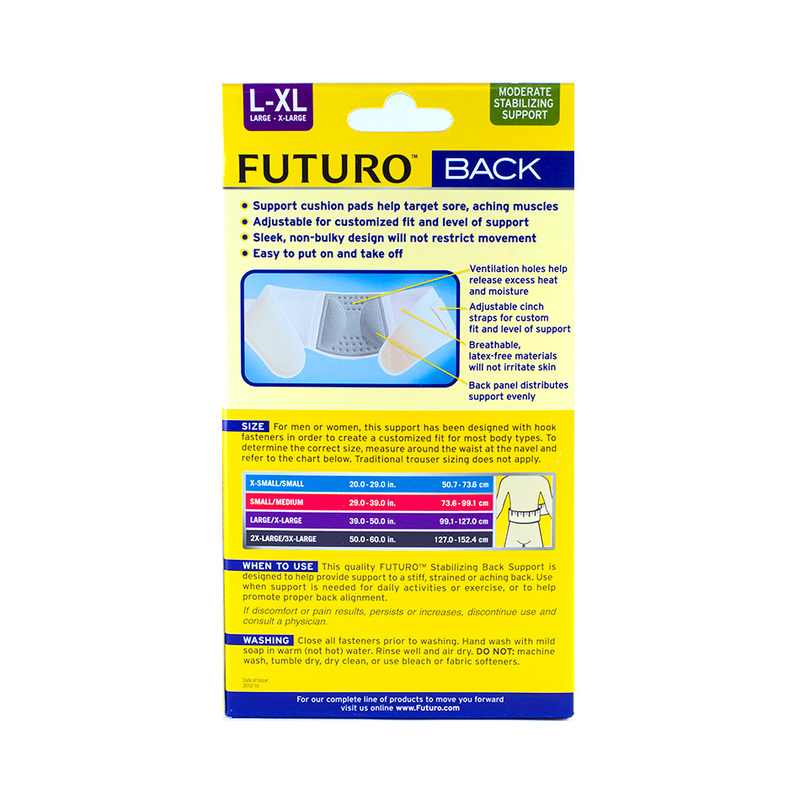 Futuro Comfort Stabilizing Back Support Large-Xtralarge