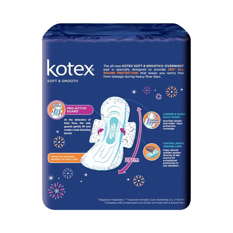 Kotex Soft & Smooth Overnight 28cm, 20pcs