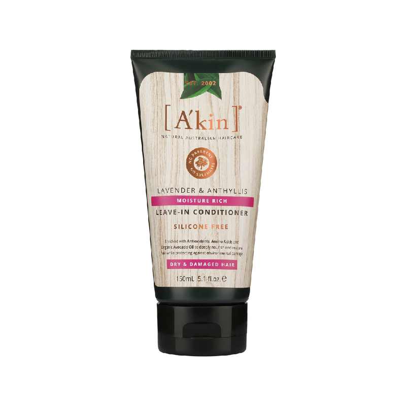 A'kin Moisture Rich Lavender & Anthyllis Leave-In Conditioner, 150ml