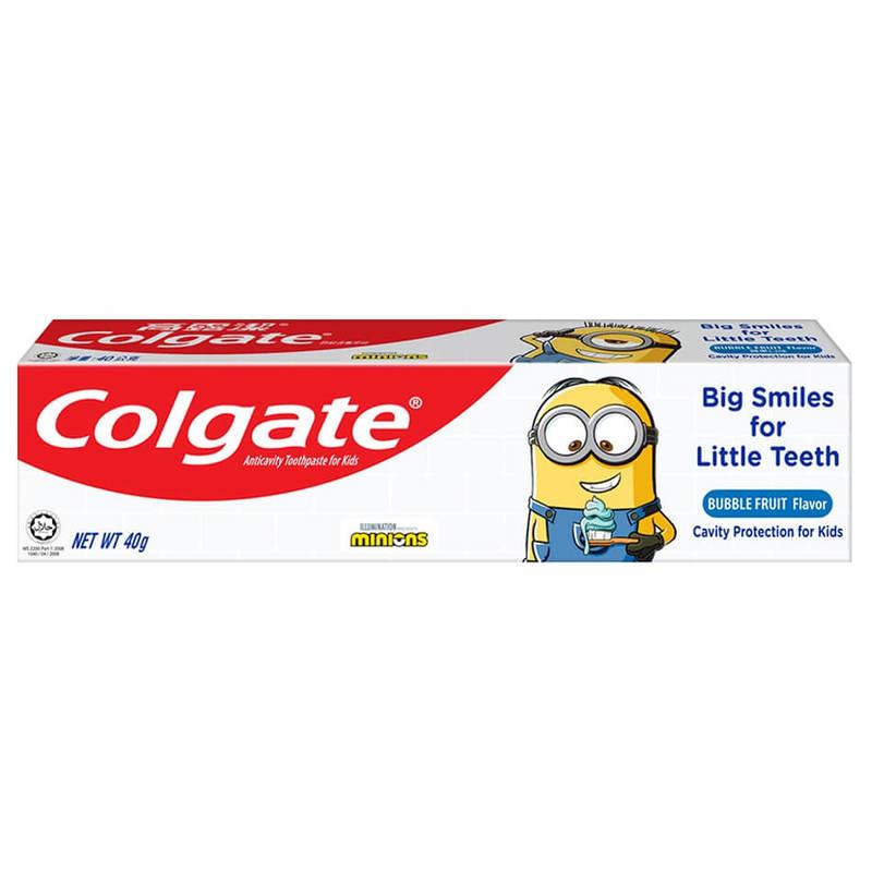 Colgate Minions Toothpaste Bubble Fruit Flavor, 40g